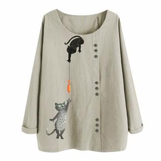 Ttlove Women TTlove_Women New Cotton Linen Tunic Tee Shirt Jacquard Tops Shirts Casual Lightweight Jacket Outfit