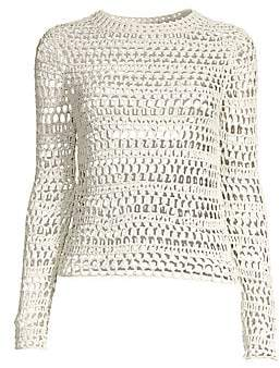 Theory Women's Crochet Long Sleeve Top