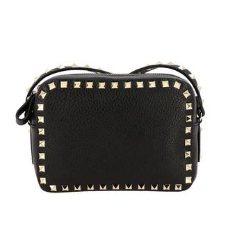 Valentino Rockstud Spike Camera Bag In Leather