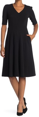 Donna Morgan V-Neck Fit & Flare Dress
