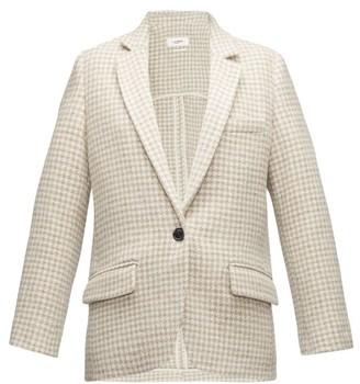 Etoile Isabel Marant Charly Houndstooth Tweed Blazer - Ivory Multi