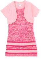 Pink Angel Pink Twist Stripe Layered Dress - Infant Toddler & Girls