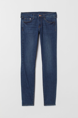 H&M Super Skinny Low Jeans - Blue
