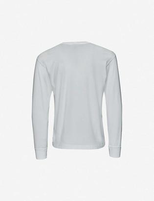 Stone Island Long sleeve logo patch cotton T-shirt