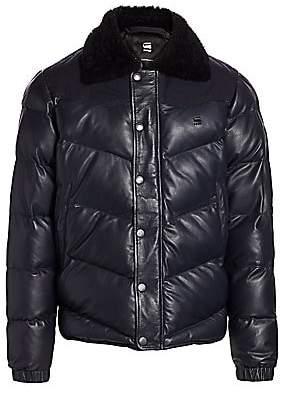 G Star Men's Western Faux-Fur Collar Puffer Jacket