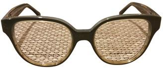 Balenciaga Grey Plastic Sunglasses