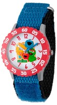 Sesame Street Boys' Stainless Steel Time Teacher Watch - Blue