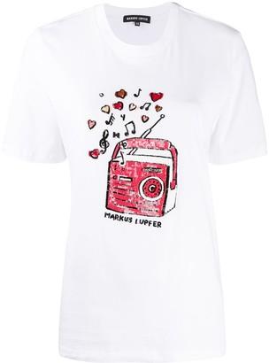 Markus Lupfer Alex sequin embellished T-shirt