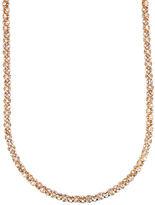 Anne Klein Goldtone Crystallized Tubular Necklace