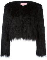 Giamba fur effect cropped jacket
