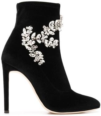 Giuseppe Zanotti Celeste velvet boots