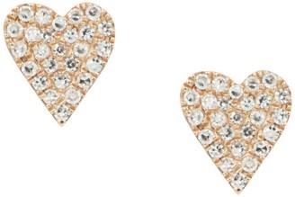 Kamaria 14k Rose Gold & Diamond Heart Earrings