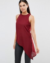 AX Paris Tank Top With Asymmetric Hem