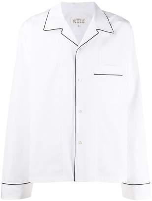 Maison Margiela contrast piped trim shirt