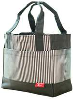 Kylin Express Classic Square Streaked Fashion Lunch Tote Bag With Draw Cord