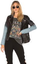 Doma Ombre Moto Jacket in Black. - size L (also in M,S,XS)
