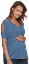 a glow Maternity a:glow Cold-Shoulder Tee