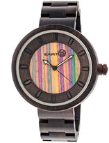 Earth Wood Root Skateboard-Dial Dark Brown Bracelet Watch ETHEW2506