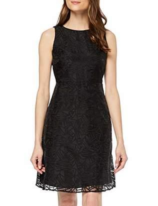 Yargıcı Womens 9YKEL75A Cocktail Round Collar Sleeveless Dress - Black