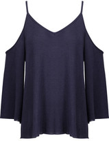 Bailey 44 Cold-Shoulder Jersey Top