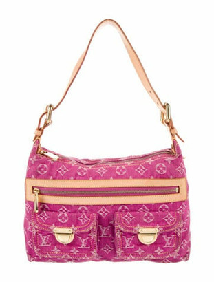Louis Vuitton Monogram Denim Baggy PM pink