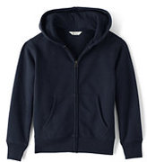 Lands' End Boys Zip-front Sweatshirt-Pewter Heather