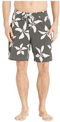 Quiksilver Waterman Falling Blossom Boardshorts (Raven) Men's Swimwear