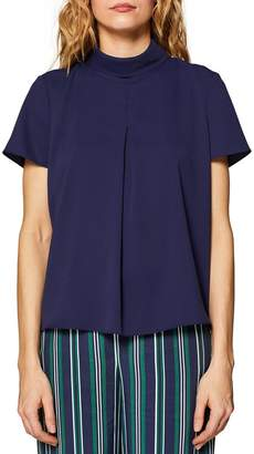 Esprit High Cowl Neck Short-Sleeved Blouse