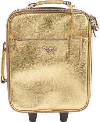 Prada Gold Leather Travel bags