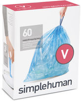 Simplehuman Custom-Fit Trash Can Liners Code V - 60-pack