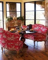 Dining Table & Toile Banquettes