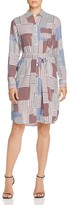 Foxcroft Patchwork Print Belted Shirt Dress