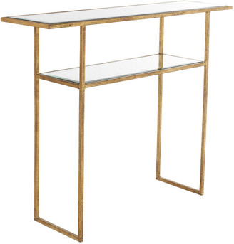 OKA Merle Console Table - Antiqued Glass