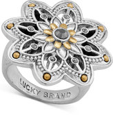 Lucky Brand Two-Tone Flower Statement Ring