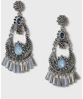 Dorothy Perkins Womens Bead Chandalier Earrings- Blue