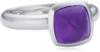 Viventy Choose Me Ladies' Ring 925 Sterling Silver 1 Synthetic Amethyst EU Size 54 mm (17.2) 765171