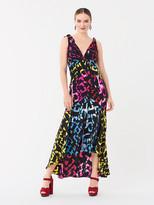 Diane von Furstenberg Laia Silk Crepe de Chine High-Low Gown