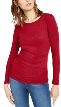 INC International Concepts Inc Long-Sleeve Draped T-Shirt, Created for Macy's