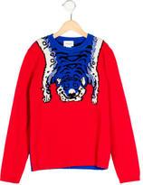 Gucci Girls' Intarsia Tiger Wool Sweater