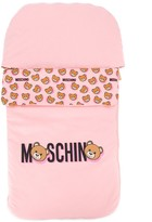Moschino Kids Teddy logo sleeping bag