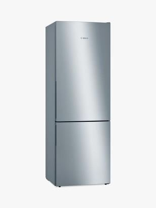 Bosch Serie 6 KGE49AICAG Freestanding 70/30 Fridge Freezer, 70cm Wide, Stainless Steel