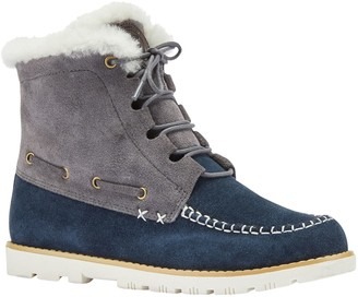 Lamo Suede and Sheepskin Boots - Meru