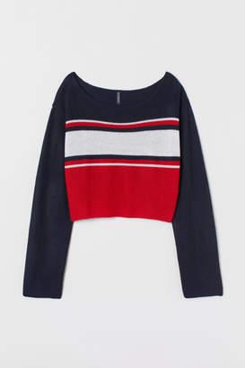 H&M Striped Sweater - Red