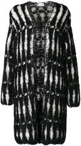 Lanvin metallic woven coat - women - Polyamide/Viscose - M