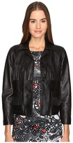 Just Cavalli Fringe Leather Button Up Jacket