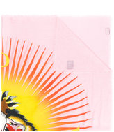 Gucci Angry Cat blush shawl scarf - women - Silk/Modal - One Size