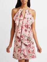 Charlotte Russe Floral Ruffled Shift Dress
