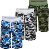 LotMart Kids Jersey Camouflage Shorts V-231 Bundle Pack of 3 in Colours