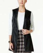 Alfani Faux-Leather Vest, Only at Macy's