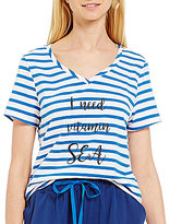 Sleep Sense Striped I Need Vitamin Sea Sleep Top